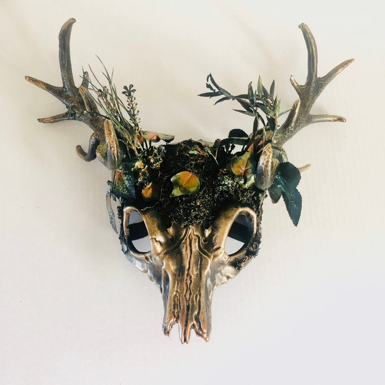 Forest ram horn headdress whimsical animal antlers witch image 0