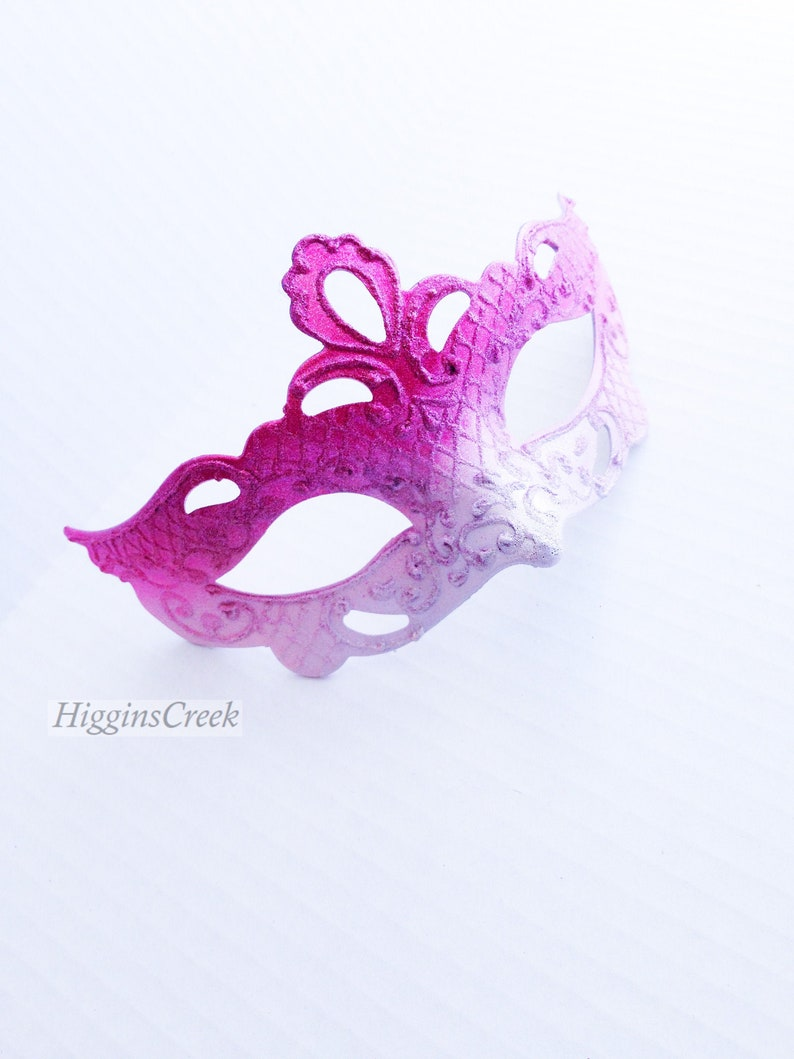 pink girls masquerade mask Pink girls halloween mask girls image 0