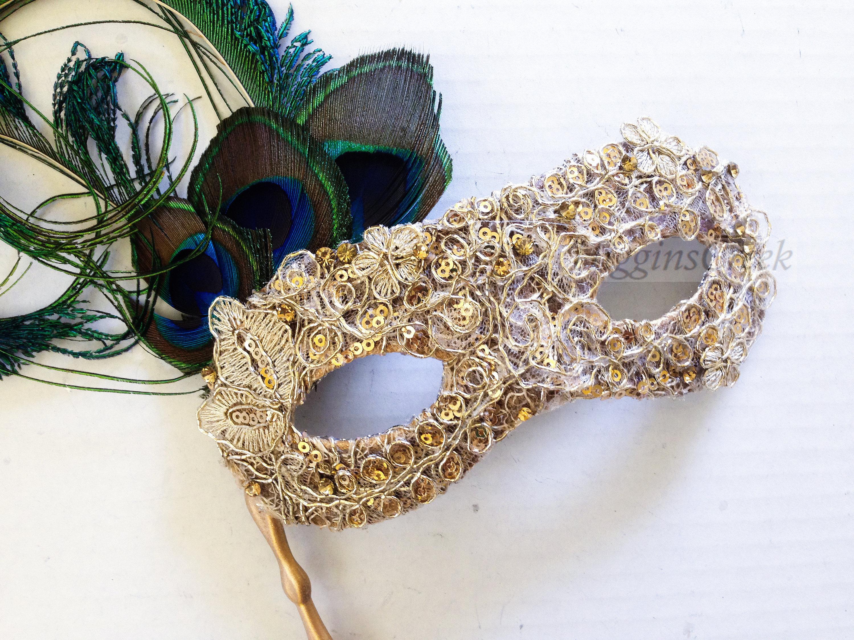 luxury feather mask gold venetian masquerade ball mask etsy