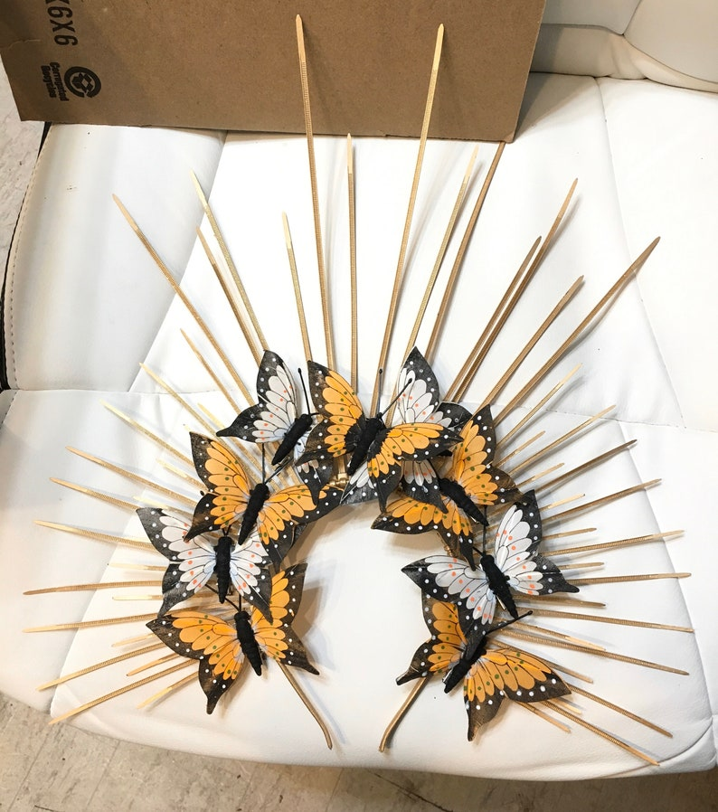 ButterflyGoddess headdress Heavenly Bodies butterfly Gold Halo image 0