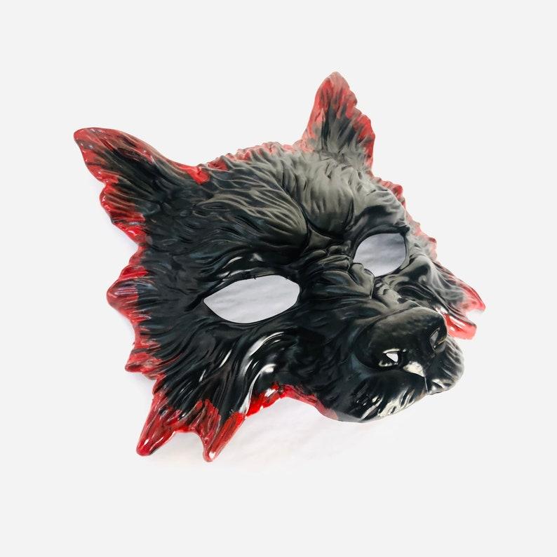 Bloody halloween mask mens werewolf mask Halloween wolf image 0