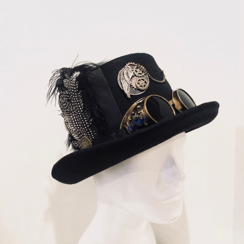 Mens Steampunk Riding hat Steampunk Accessories Steampunk image 0