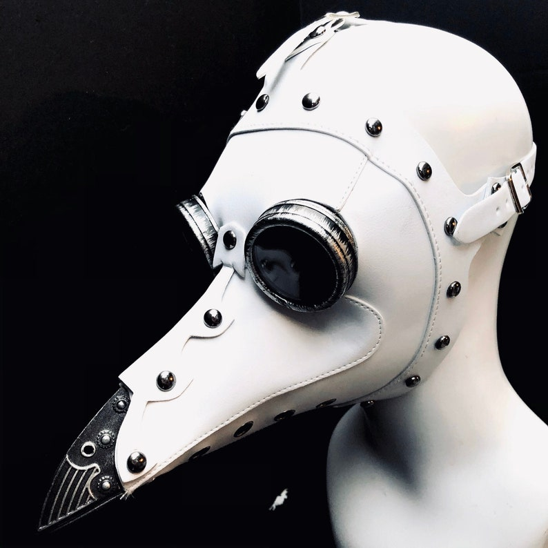 White Plague Doctor Mask Steampunk Mask  Steampunk image 0