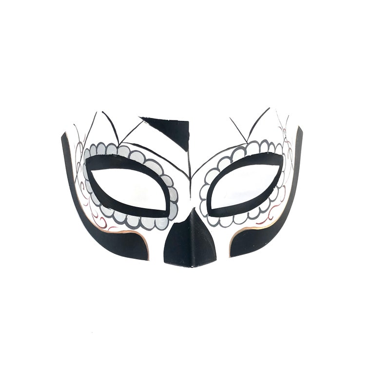 Couples Day Of The Dead Masquerade Mask Dia De Los Muertos image 0