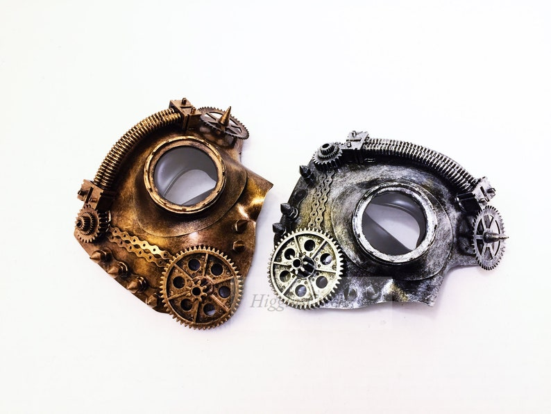 Mens masquerade mask steampunk style half face mens mask image 0