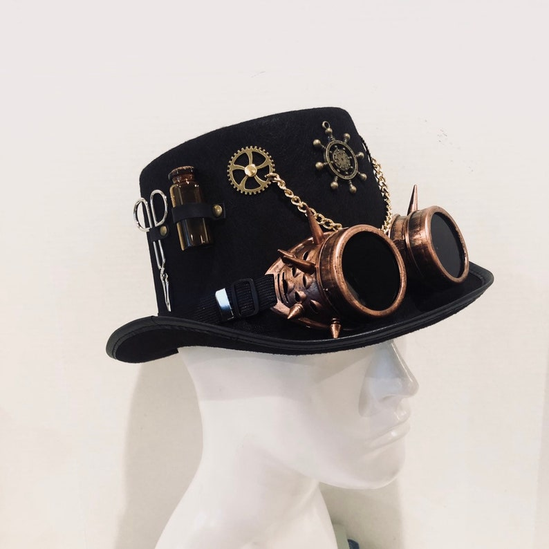 Steampunk doctors hat Riding  Steampunk Accessories image 0