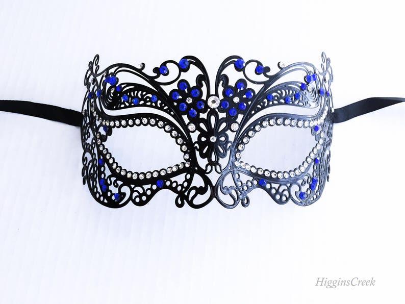 Blue sapphire womens mask Masquerade Ball Mask Women Masquerade Mask Venetian face masks