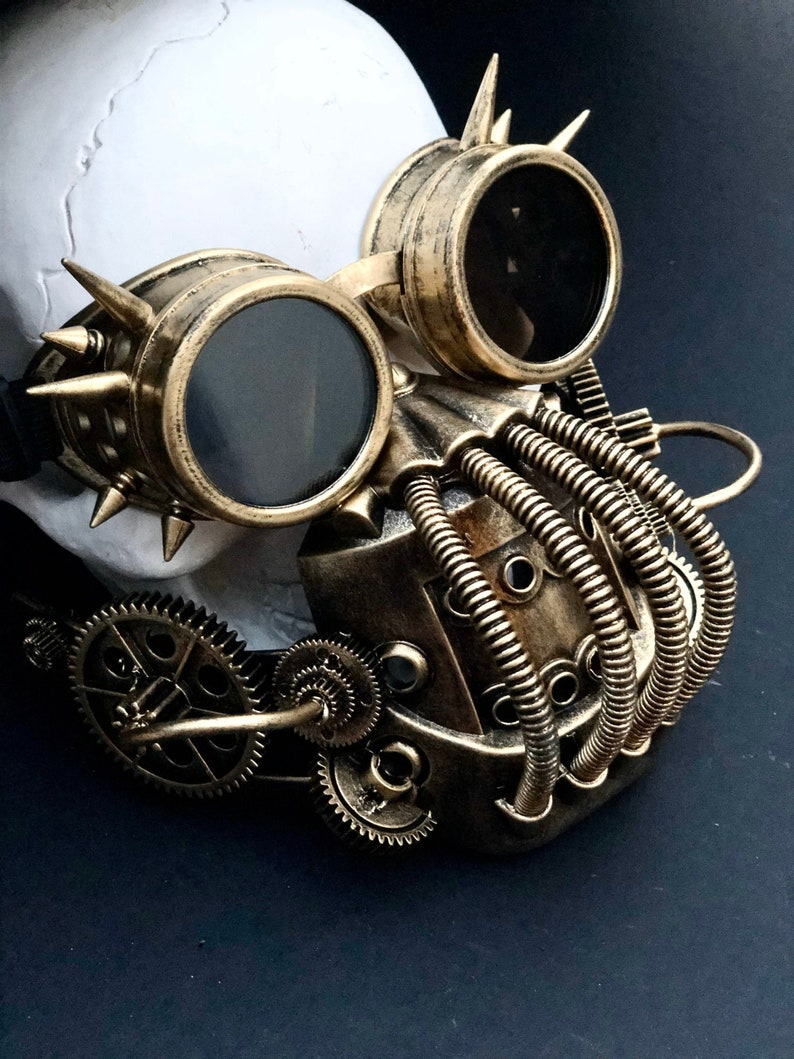Steampunk gas mask Goggles rave gas mask cosplay Respirator image 0