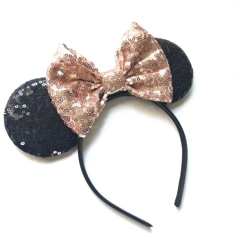 Champagne sequins mouse Ears Kids & Adults sequin Christmas image 0