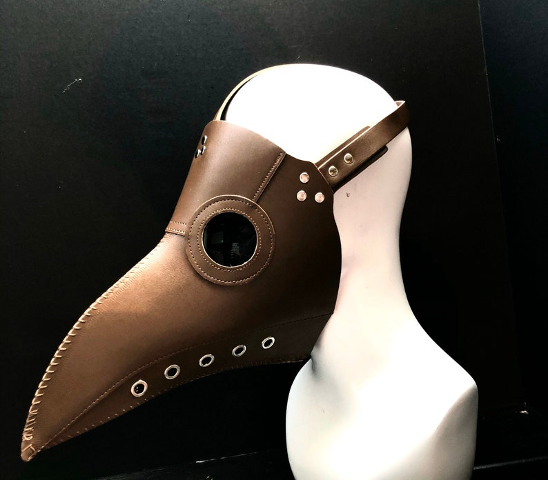 Steampunk summer 'Plague Doctor' Mask Brown Faux image 0