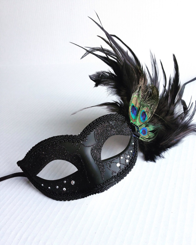 Peacock Feather masks For Prom Masqeurade Peacock Masks for | Etsy