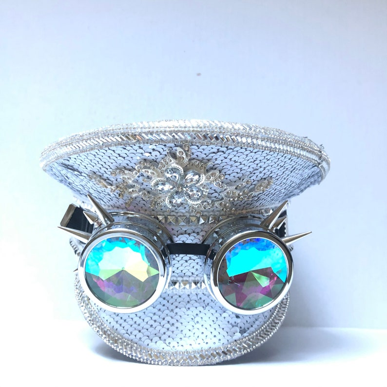 White captain hat birthday gift idea holographic Captains Hat image 0