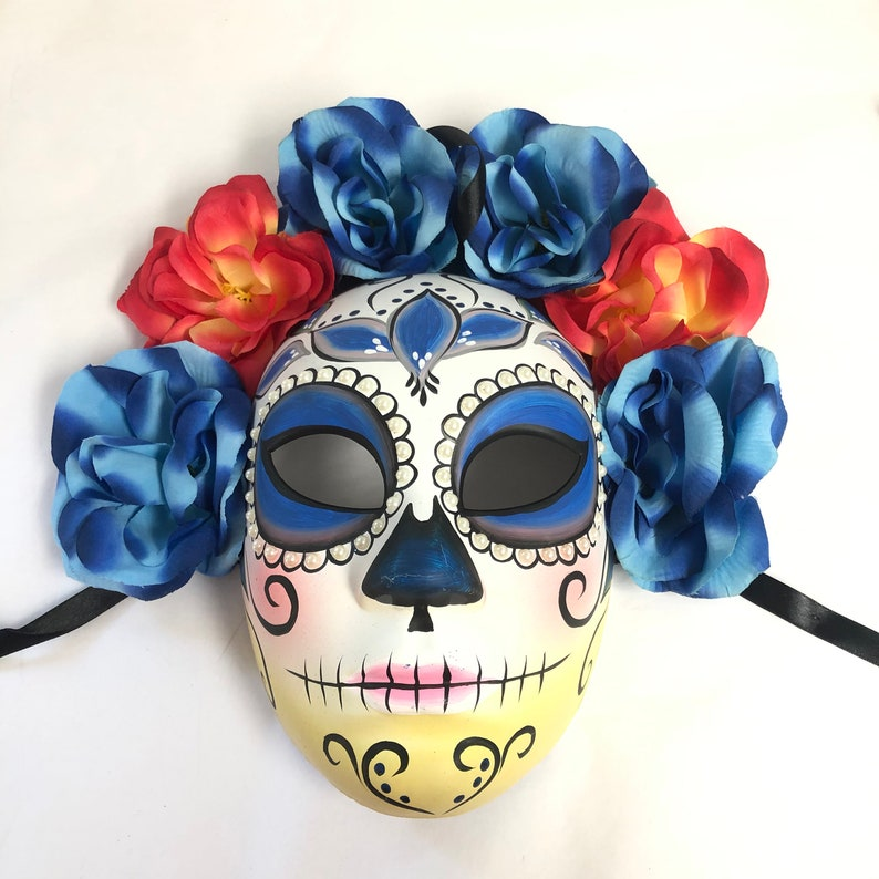 Floral Women's Day Of The Dead Masquerade Mask Dia De Los image 0