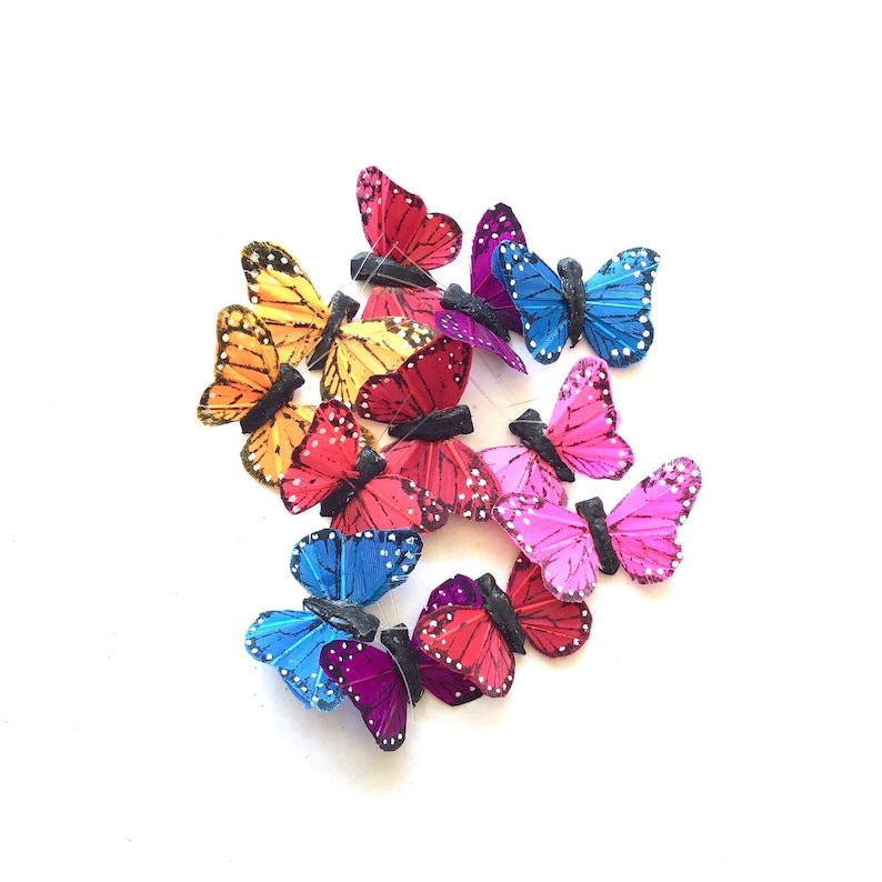 Small butterfly hairclips kids butterfly hairpieces image 0
