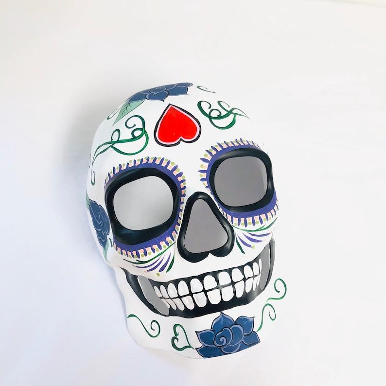 Day Of The Dead Masquerade Mask Dia De Los Muertos Festival image 0