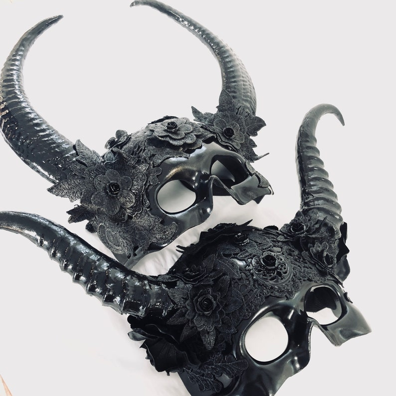 Couples Masquerade masks Mythical creature mask Forest image 0