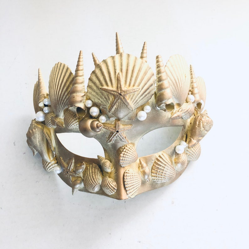 Men merman Beach theme Atlantis masquerade masks Under The image 0
