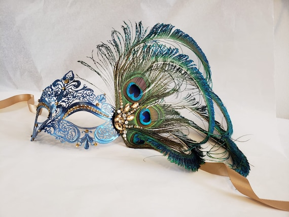 Black Floral Lace Halloween Costume 50 Shades Peacock Feather One Side Eye Mask