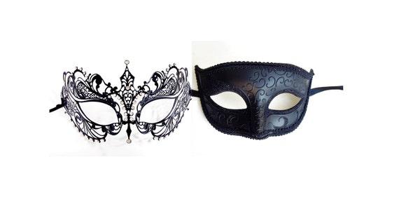 Purple Couples Masquerade Mask Mardi Gras Masks Filigree Metal Masquerade Mask His /& Hers Masquerade Mask