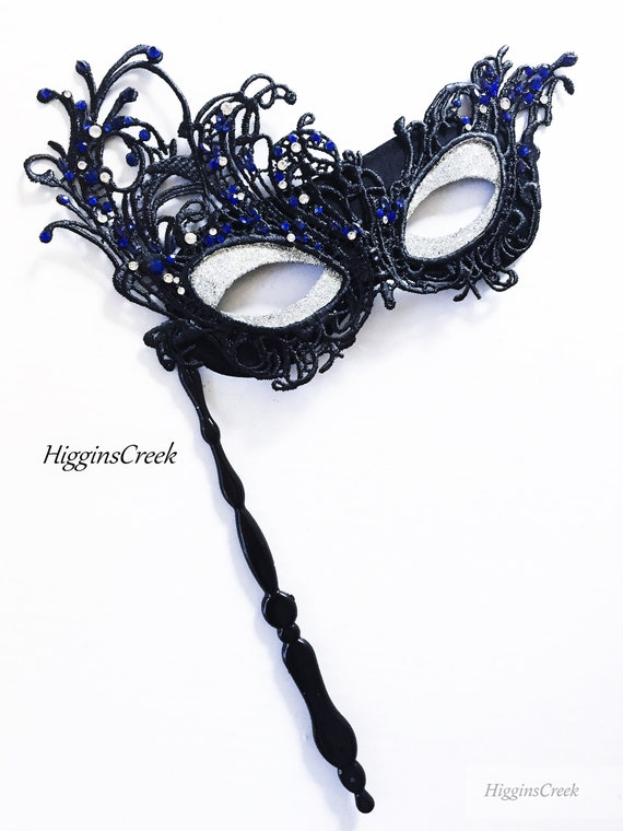 SILVER /& GOLD HAND HELD STICK VENETIAN MASQUERADE PARTY CARNIVAL BALL EYE MASK