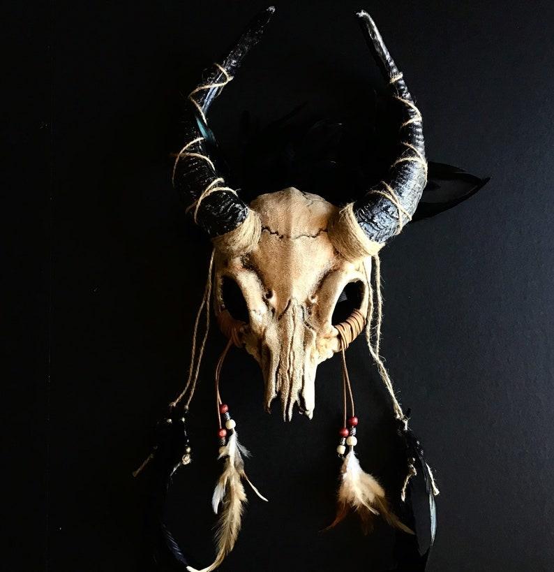 Samhain Witch headdress Gaelic festival skull crown druid image 0