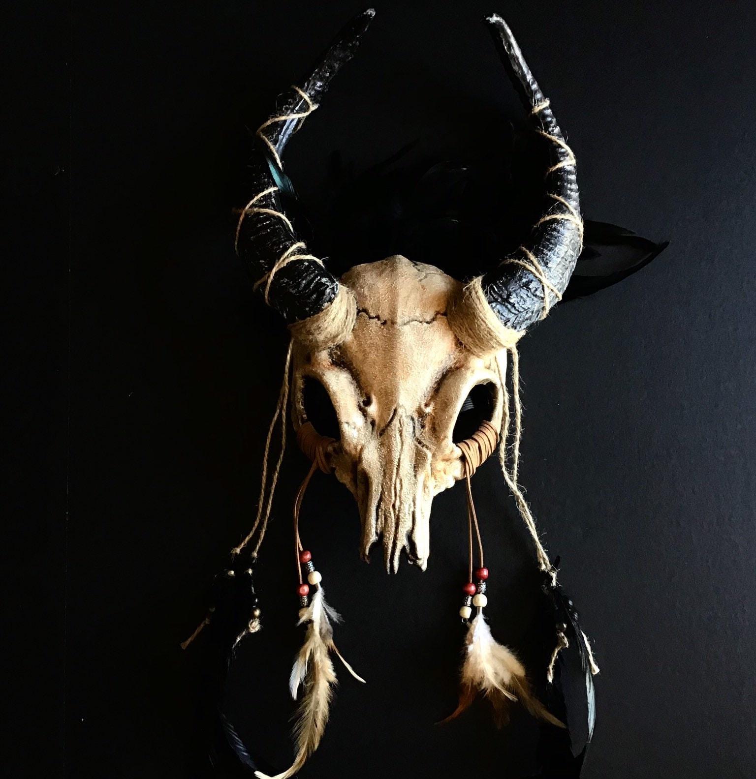 Crescent Triple Horned Moon Wicca Witch Pagan Druid Ritual Sabbat Headdress