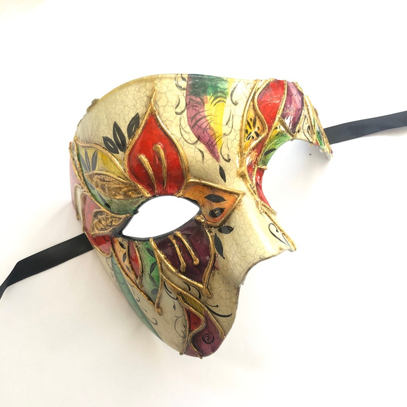 Mens masquerade mask Venetian style colorful phantom of the image 0