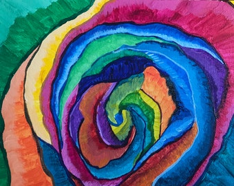 Rose of many colors*original painting*