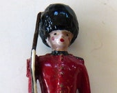 British guard vintage lead toy soldier toy die cast miniature military collectible antique