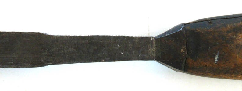 Wood working chisel antique hand forged tool TC heavy wood steel carpentry crafts carving