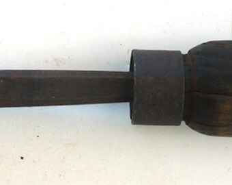 Antique soldering iron leather metal forming tool vintage industrial