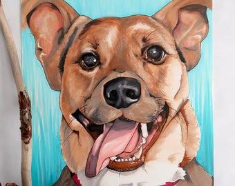 Custom Pet Portrait / Pet Portraits / Dog Portraits / Copic Marker Drawing / Cat Portraits / Drawing of a Dog / Pet Memorial Gifts