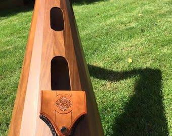 Harp tuning key case, Celtic Harp Key, Irish harp accessory,  tuning key, key pouch, orchestral harp key, harpist