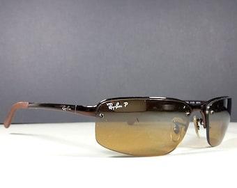 ddbb08b35b1e Ray Ban RB 3239 014/84 Brown Frame & Polarized Lenses Sunglasses