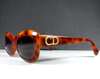 ac445661c5b Christian Dior CD 2974 Tortoise Color Vintage Optyl Sunglasses 1980 s RARE!