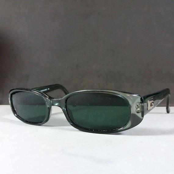 Gucci GG 2452 S Green Grey Translucent Vintage Designer  488f3d21dec