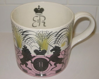 Eric Ravilious 1953 Mug designed for Wedgwood to Commemorate the Coronation of Her Majesty Queen Elizabeth II
