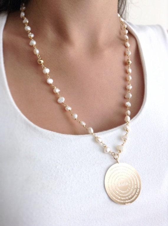 Delicado collar Rosario de perlas cultivadas de 5mm | Etsy