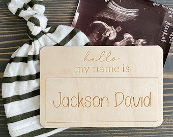 Baby Name Sign   Baby Nametag   Hello my name is   Birth Announcement   Hospital Photo
