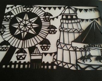 Papercutting template Fair ground