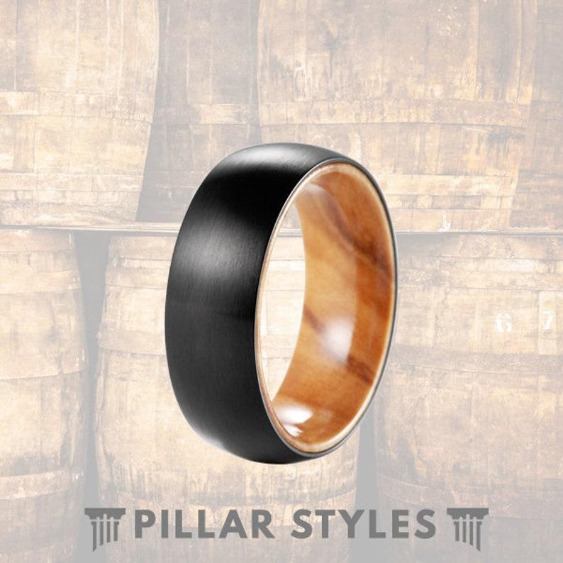 Unique Mens Wedding Band Wood Ring Titanium Wedding Band Mens Ring - Olive  Wood Wedding Ring Custom Wood Ring Men Titanium Ring Wooden Ring
