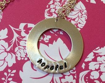 Hopeful necklace