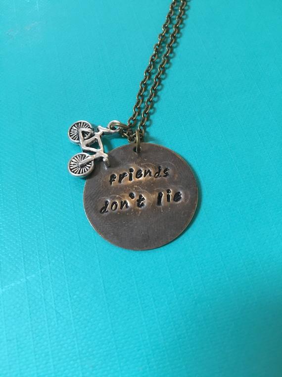 Friends Don\u2019t Lie necklace