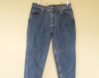 e2c1190b188 vintage Levis Acid Wash Denim Jeans Tapered Leg Dad Jeans 36x32 90s Made in  USA