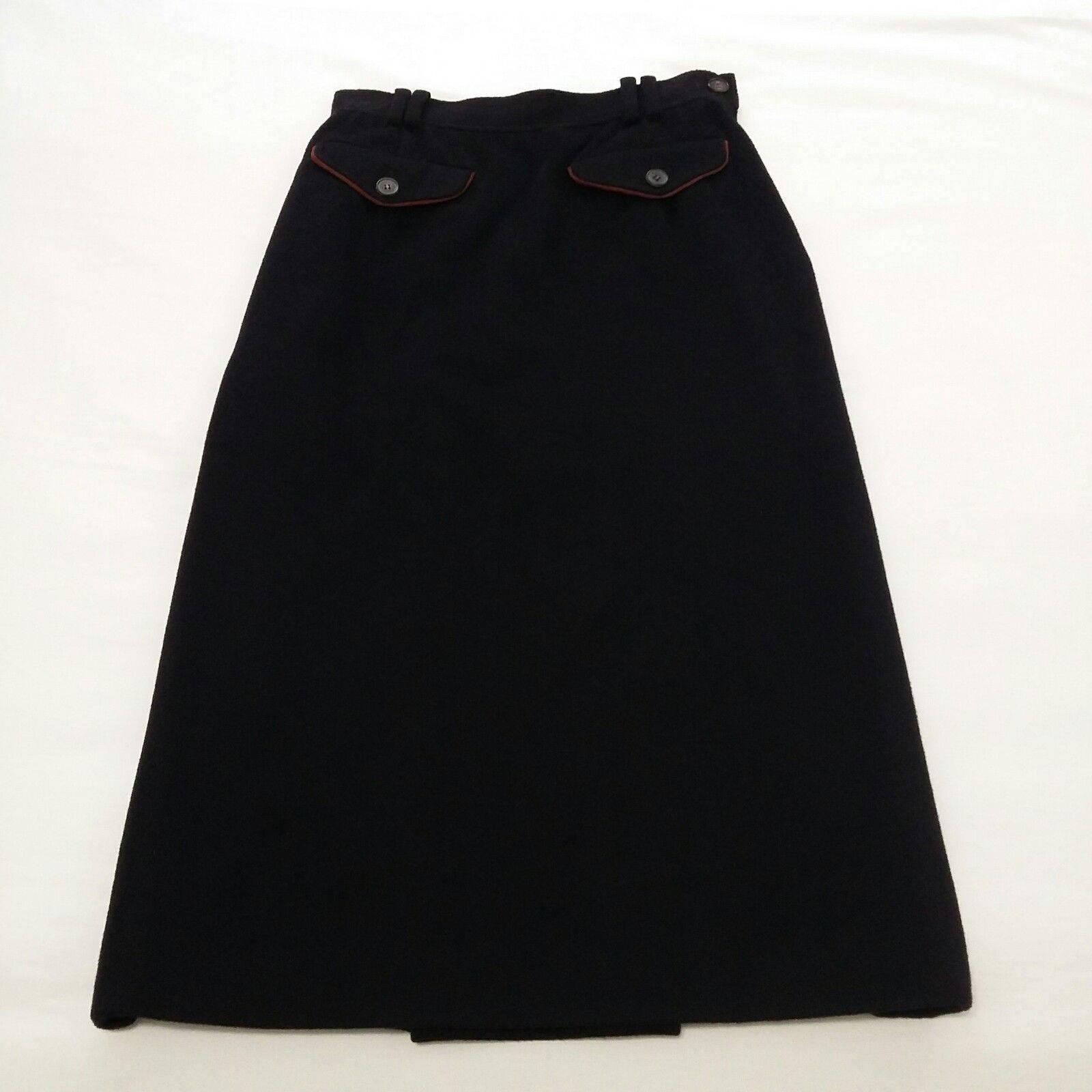 fb701de52 Vintage Gucci Cashmere Skirt Black sz S 44 Designer Skirt Made   Etsy