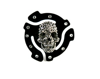 45 rpm Adapter Crystal Skull Ring