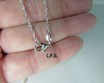 29 Inch Sterling Silver Necklace, Sterling Silver Plated Necklace,