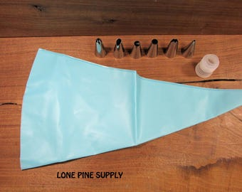 Reuseable Piping Bag and Tips, Cake Decorating Kit, Icing Bag and Tips
