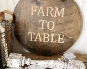 Farm To Table Wood Round ...