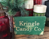 Wood Engraved Kringle Can...